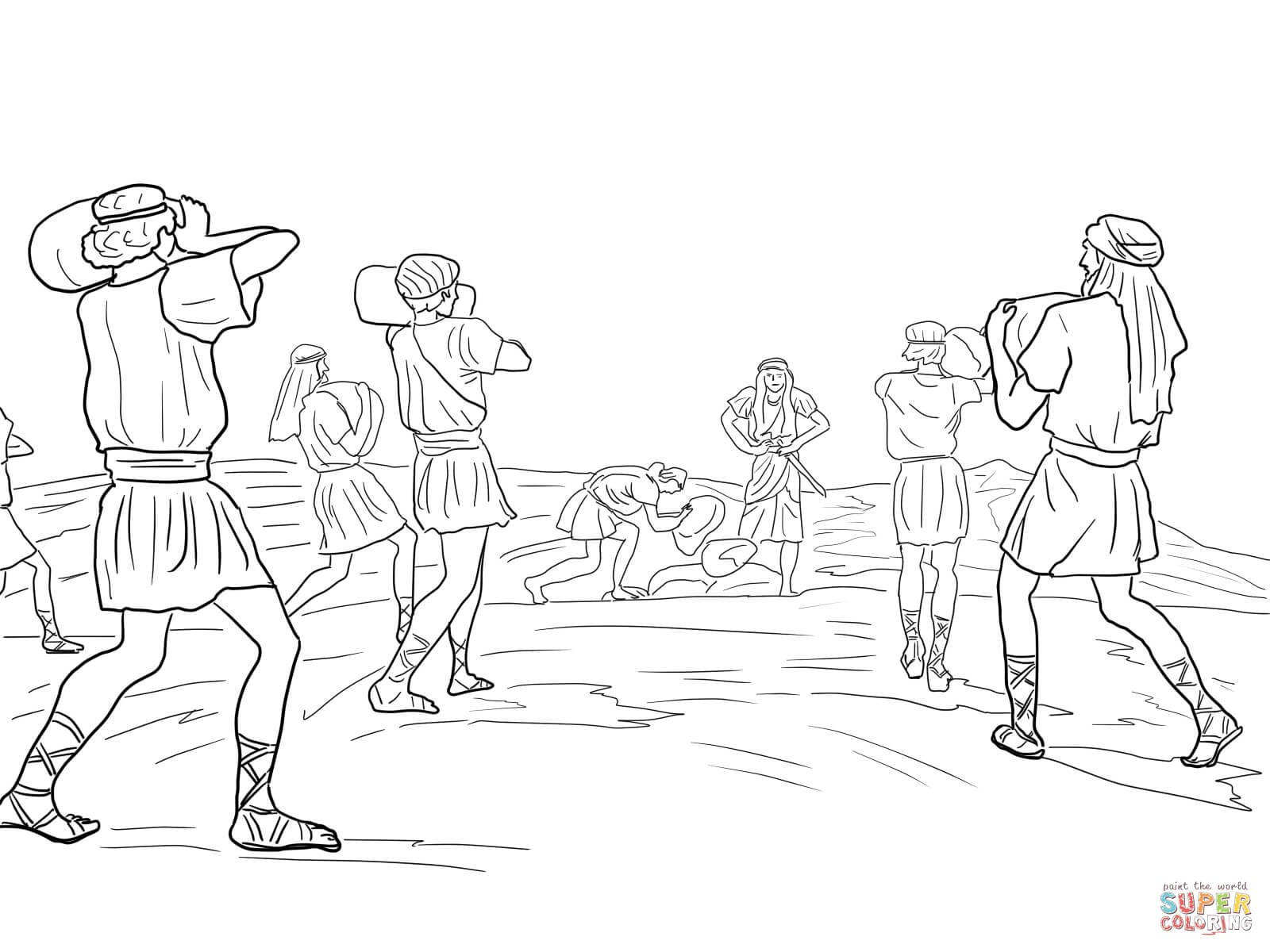 joshua coloring pages joshua and 12 spies coloring pages sketch coloring page joshua pages coloring
