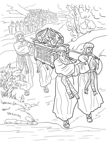 joshua coloring pages joshua and the israelites cross the jordan river coloring joshua pages coloring