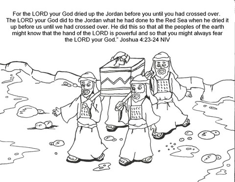 joshua coloring pages joshua crossing the jordan river kids bible story with coloring joshua pages