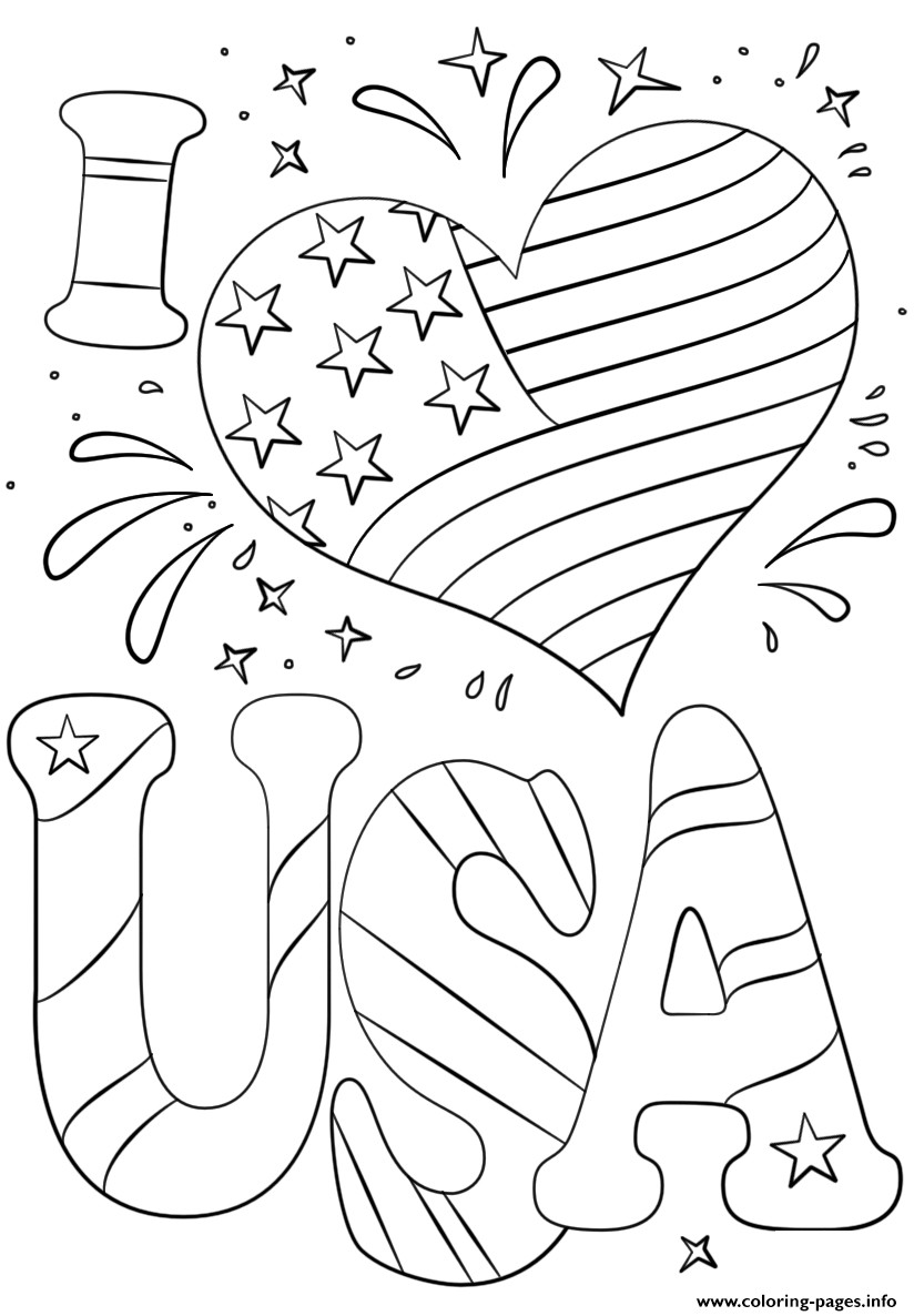 july coloring pictures i love usa coloring pages july 4 independence day pictures coloring july