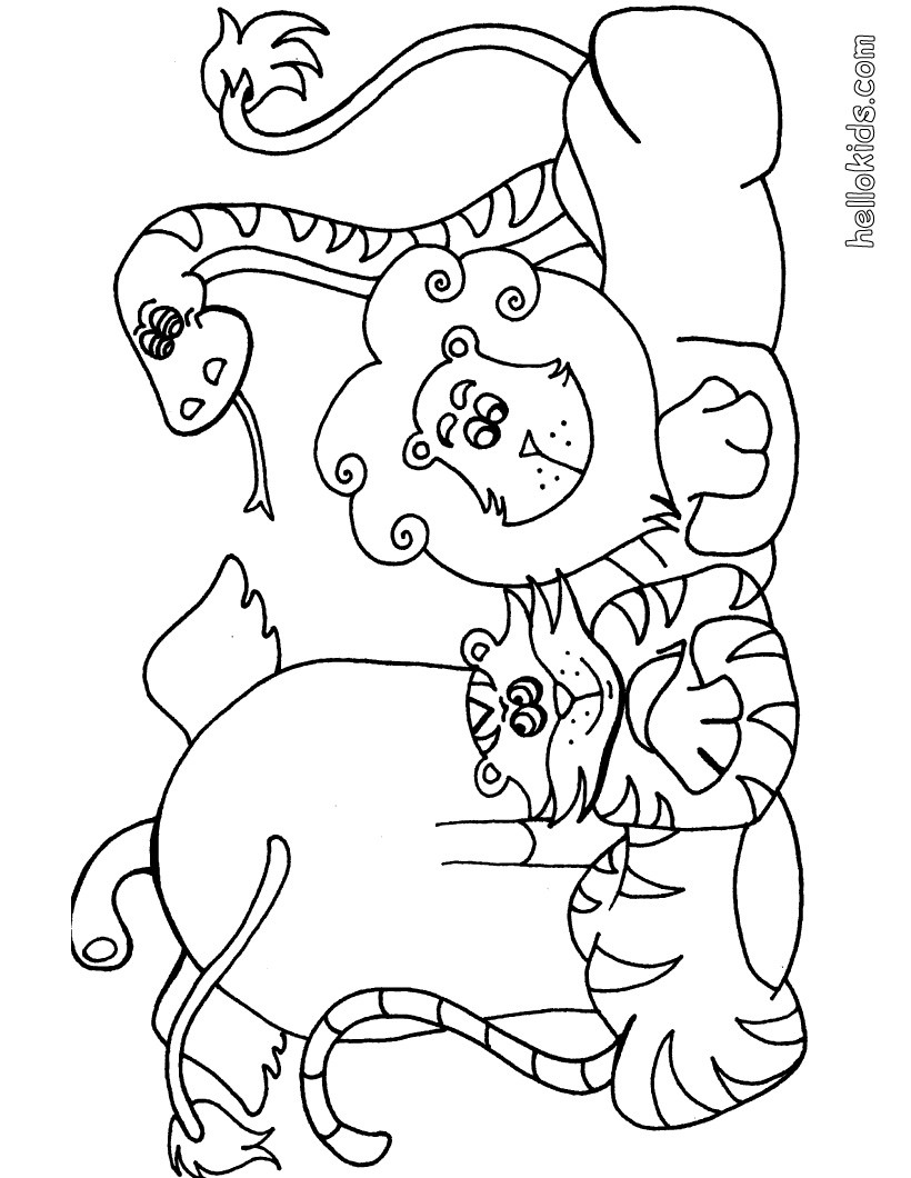 jungle animal coloring pages safari coloring pages to download and print for free coloring animal jungle pages