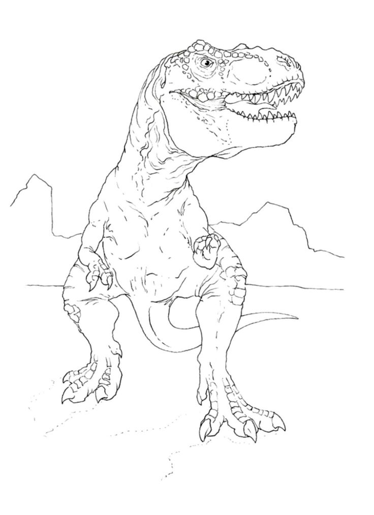 jurassic park dinosaur coloring pages jurassic park t rex drawing at getdrawings free download jurassic pages coloring dinosaur park