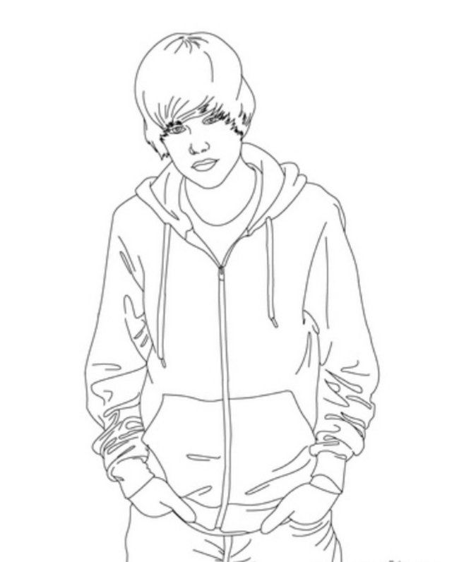 justin bieber coloring page justin bieber with cool earing coloring page netart coloring page bieber justin