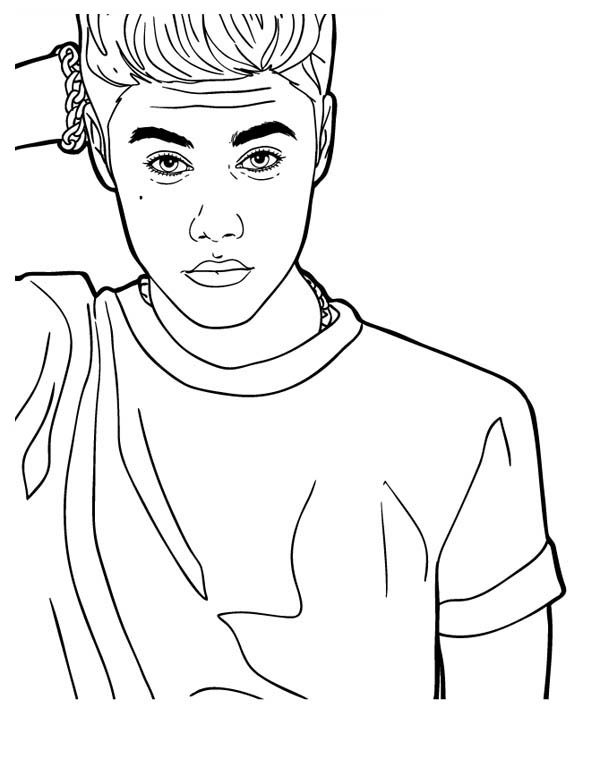 justin bieber coloring page music celebrity justin bieber coloring page netart justin bieber page coloring