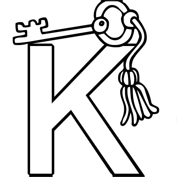 k coloring picture fileclassic alphabet k at coloring pages for kids boys k coloring picture