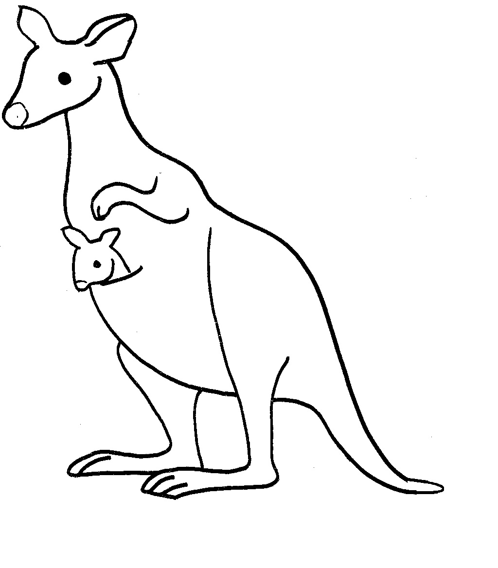 kangaroo colouring picture free printable kangaroo coloring pages for kids animal place picture kangaroo colouring