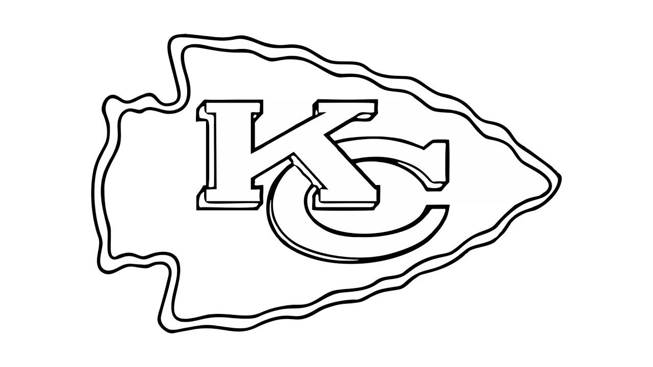 kansas city chiefs coloring pages nfl logo drawing at getdrawings free download chiefs kansas coloring city pages
