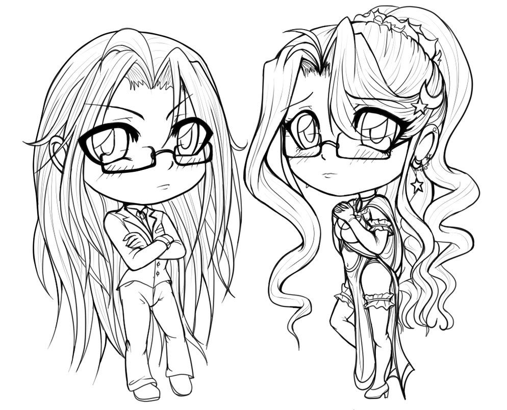 kawaii anime girl coloring pages chibi coloring pages to download and print for free kawaii coloring girl anime pages