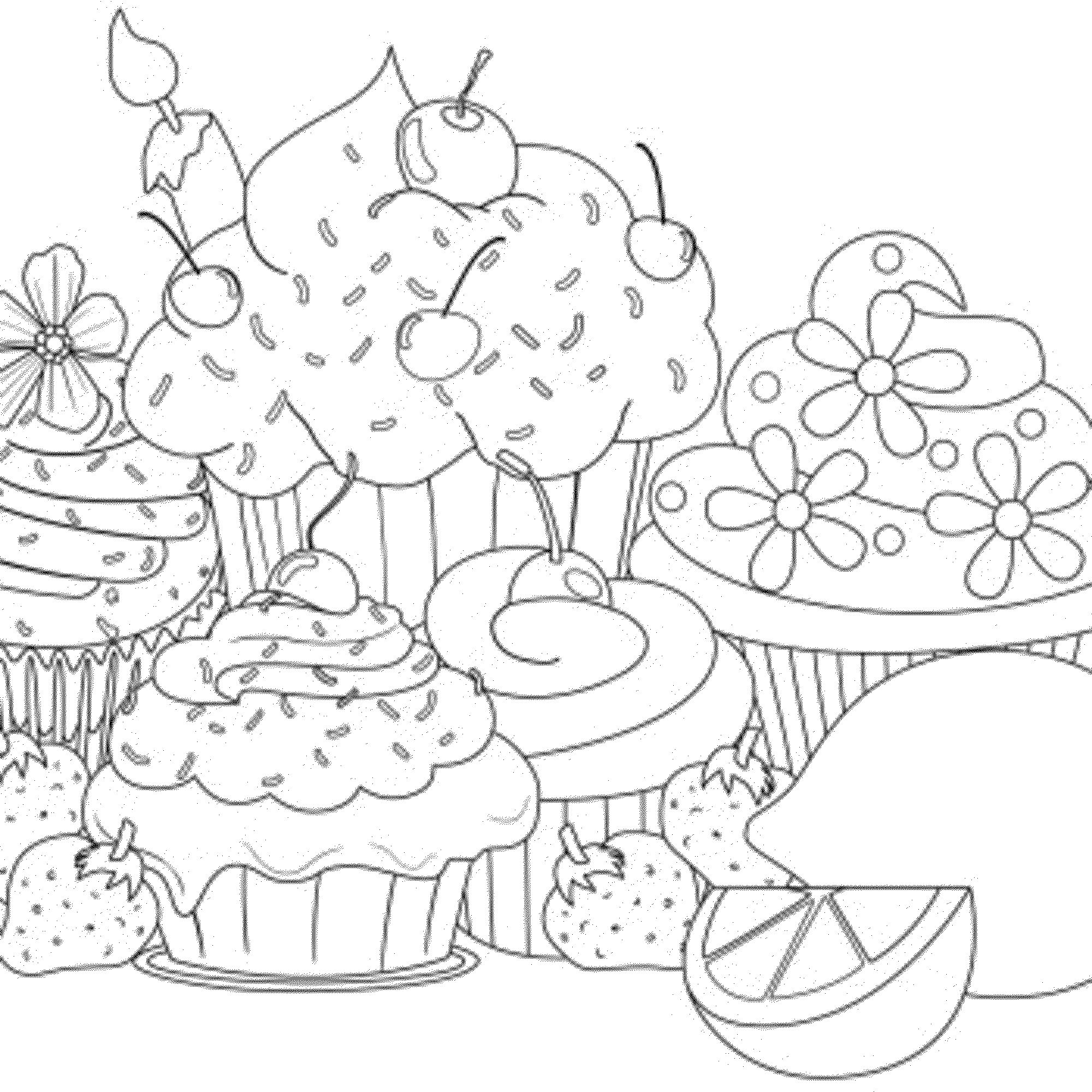 kawaii cupcake coloring pages cute cupcake coloring pages coloring home coloring kawaii cupcake pages