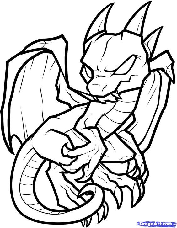 kawaii cute dragon coloring pages toriginal dragon silhouette easy drawings how train coloring dragon kawaii pages cute