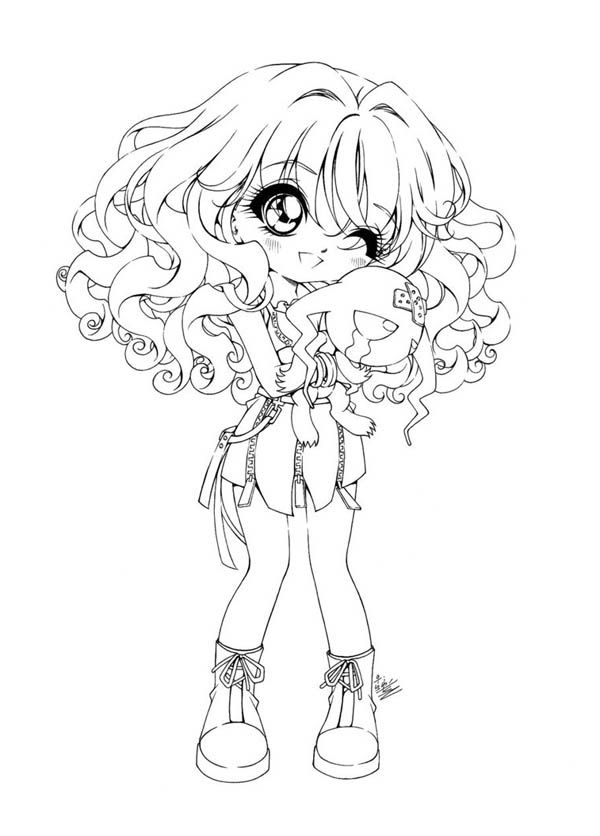 kawaii girl coloring pages coloring pages for girls pdf at getcoloringscom free girl pages coloring kawaii