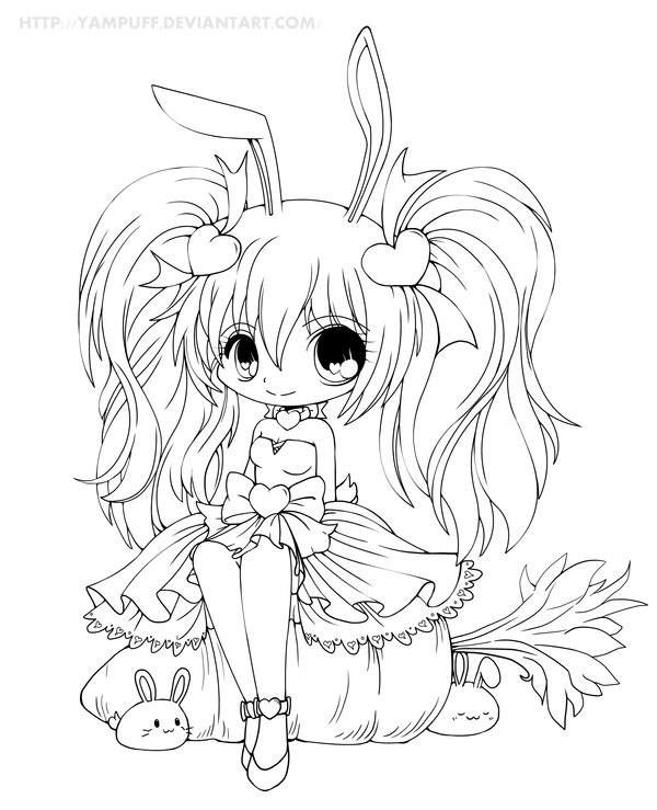 kawaii girl coloring pages cute anime coloring pages at getdrawings free download pages girl kawaii coloring