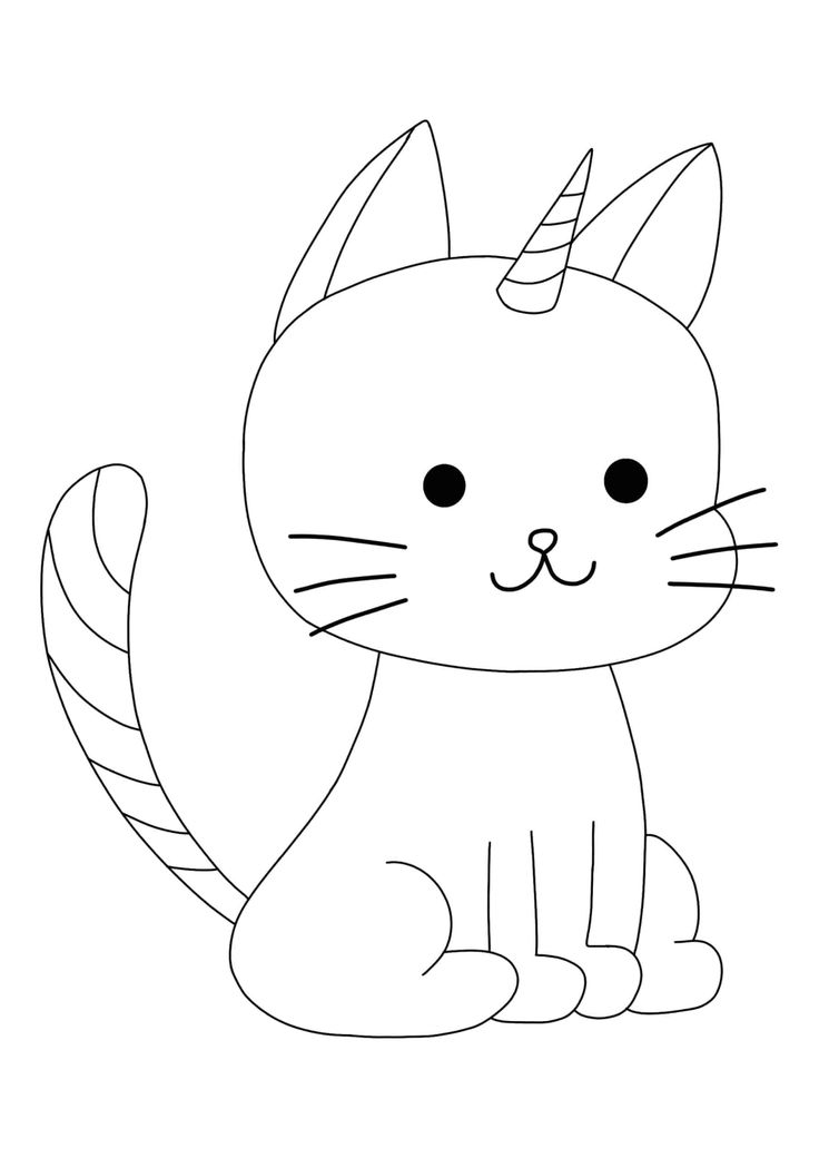 kawaii unicorn cat coloring pages easy cute unicorn cat coloring pages 2 free coloring unicorn coloring kawaii pages cat