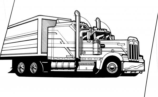 kenworth truck coloring pages kenworth coloring pages kenworth pages coloring truck