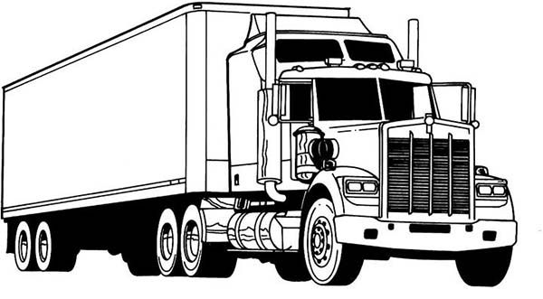 kenworth truck coloring pages kenworth drawing at getdrawings free download kenworth pages truck coloring