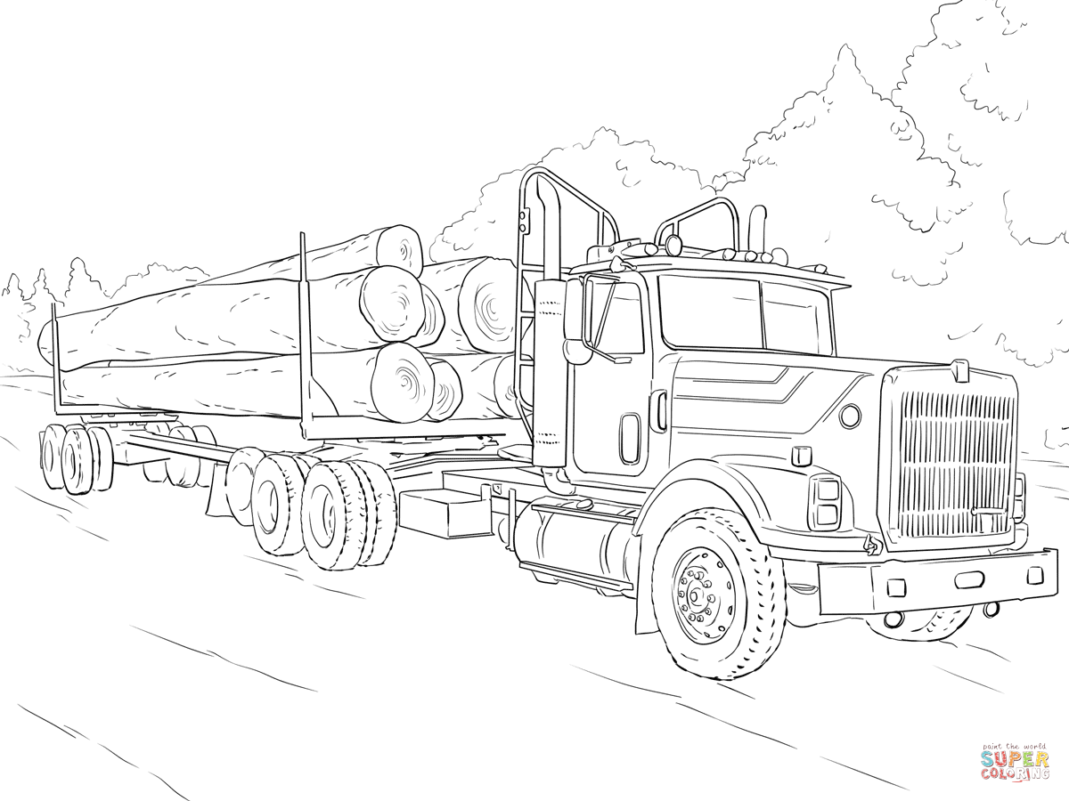 kenworth truck coloring pages kenworth drawing at getdrawings free download truck coloring kenworth pages