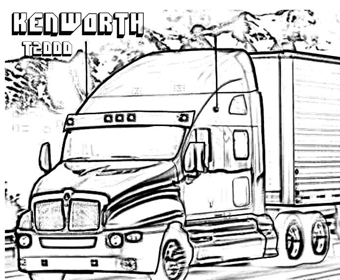 kenworth truck coloring pages kenworth truck coloring pages pages truck coloring kenworth