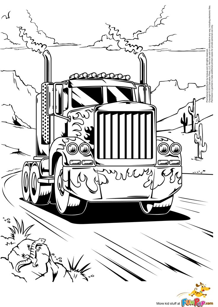 kenworth truck coloring pages semi truck line drawing at getdrawings free download truck pages coloring kenworth