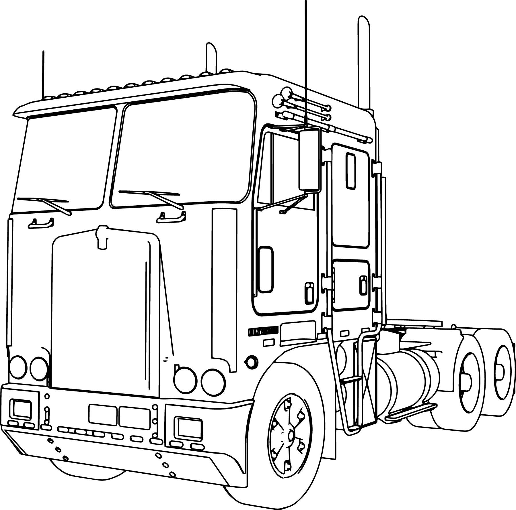kenworth truck coloring pages trailer truck drawing at getdrawings free download kenworth truck pages coloring