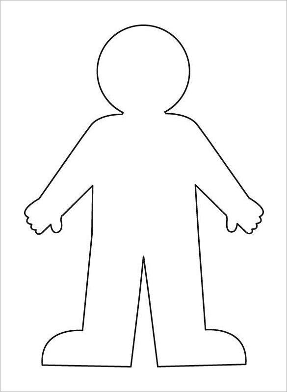 kid body outline coloring page eyes flashcard 1 the learning site coloring kid page outline body