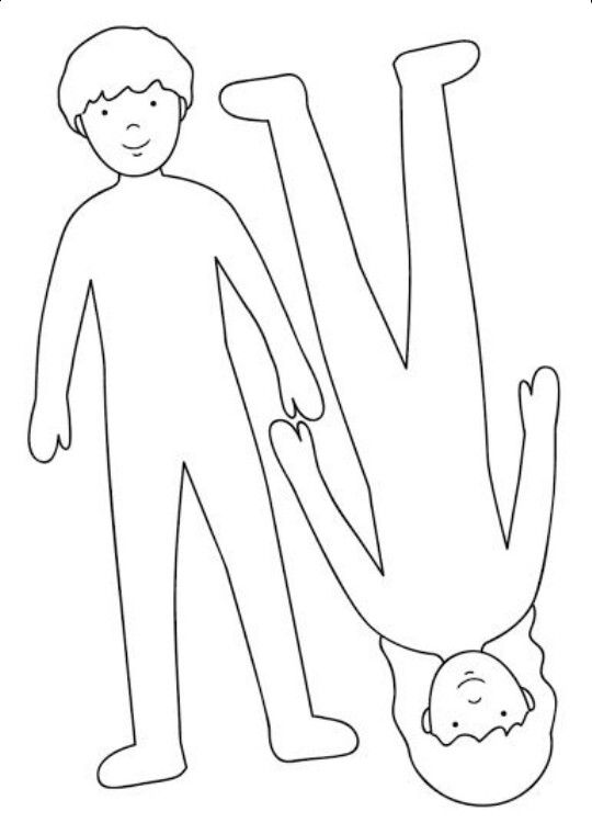 kid body outline coloring page free outline of person for kids download free clip art coloring page kid body outline