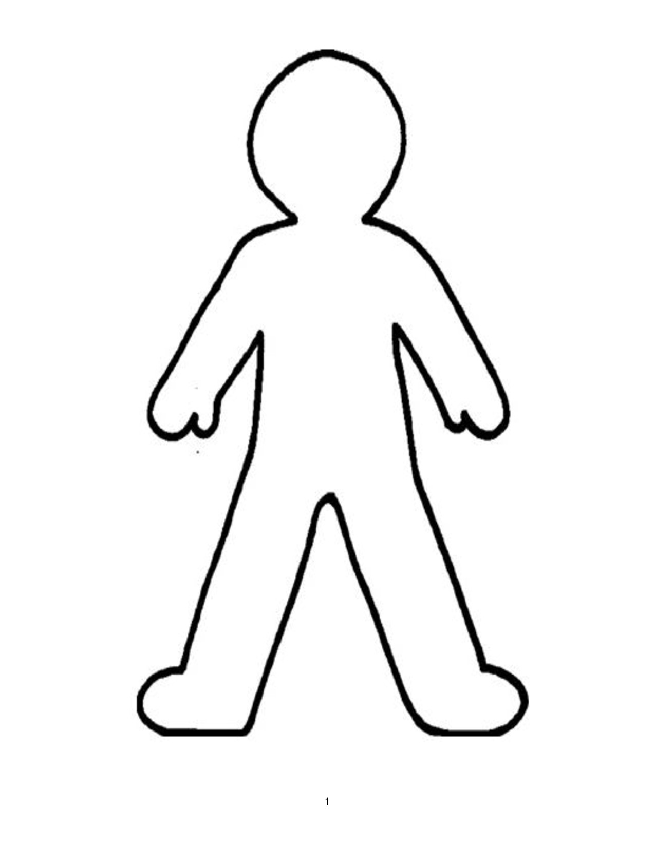 kid body outline coloring page head flashcard the learning site page coloring outline kid body