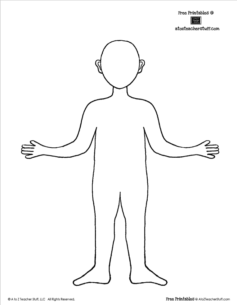 kid body outline coloring page human body outline drawing at getdrawings free download kid page outline coloring body