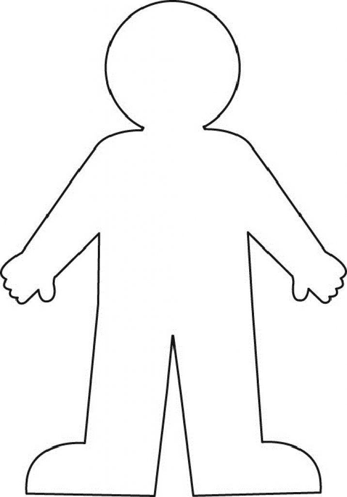 kid body outline coloring page knees flashcard 1 the learning site page body kid outline coloring