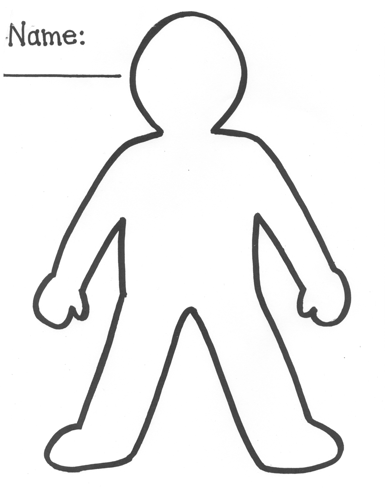 kid body outline coloring page person outline coloring page coloring home body page kid outline coloring