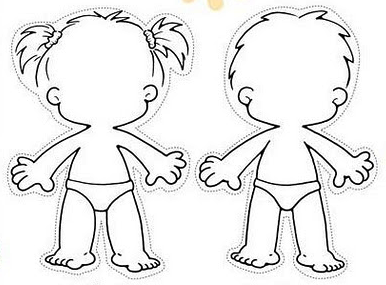 kid body outline coloring page pin body outline template for kids clipart free to use coloring kid body outline page