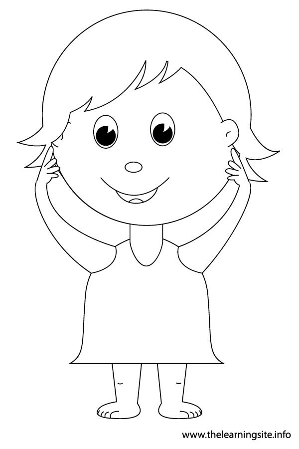 kid body outline coloring page pin by kara brinka on 6 senses preschool activities kid outline coloring page body
