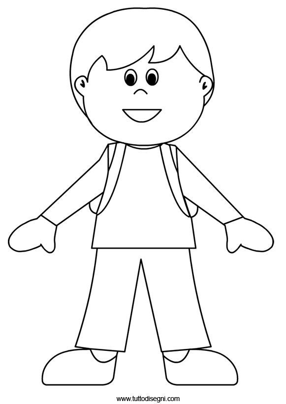 kid body outline coloring page pin on preschool body parts kid outline page body coloring
