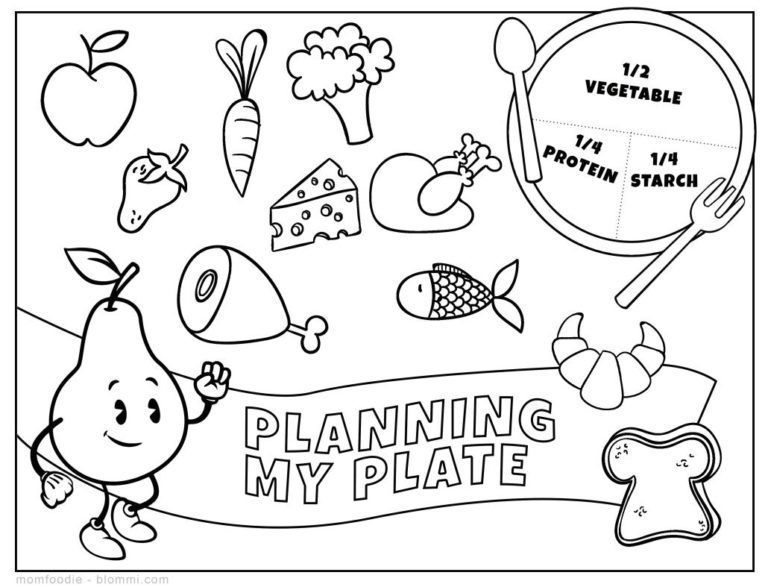 kindergarten nutrition month coloring pages myplate coloring page nutritioneducationstorecom pages month coloring nutrition kindergarten