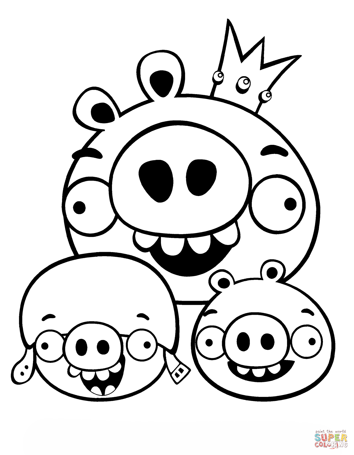 king pig coloring page 15 best printable angry birds colouring pages for kids king pig page coloring