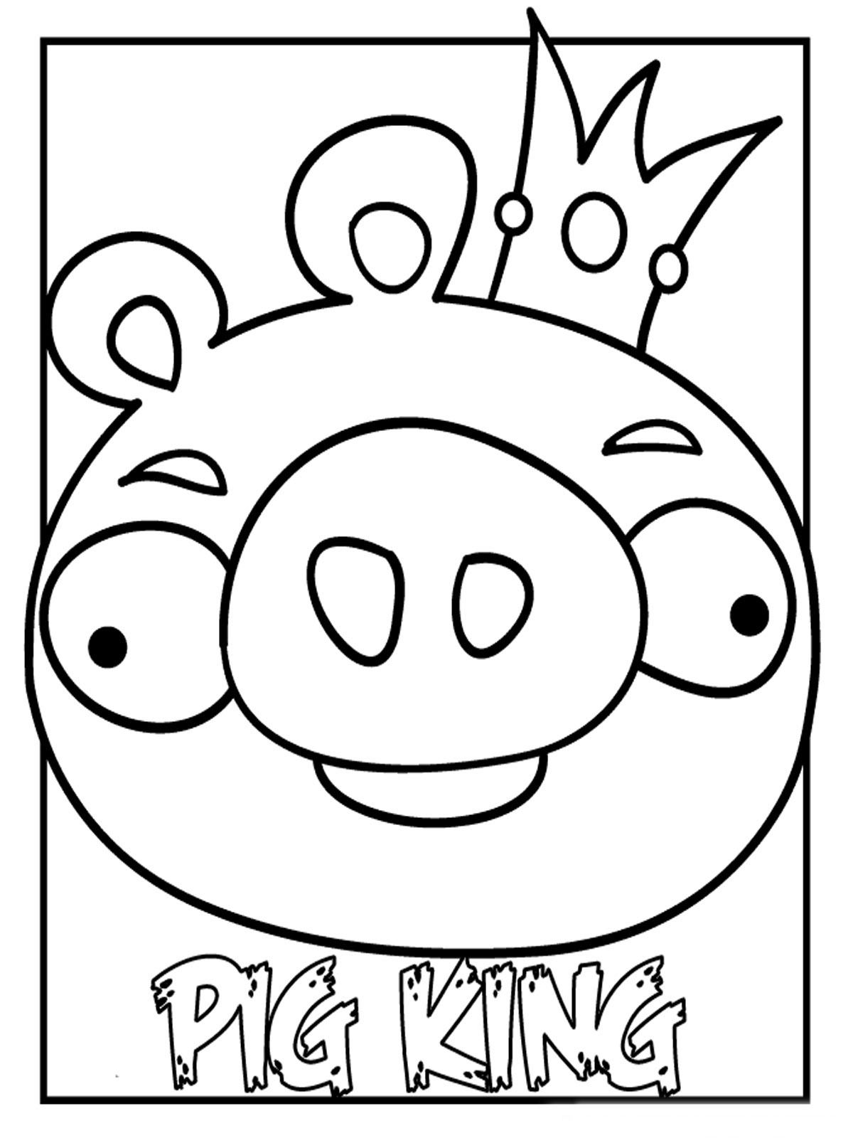 king pig coloring page 35 elegant photos of angry birds pig coloring page page pig king coloring
