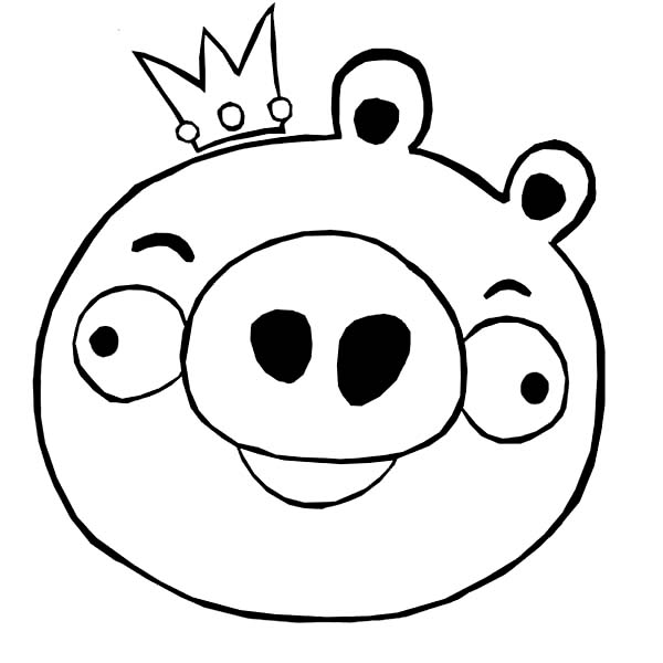 king pig coloring page angry bird king pig coloring page coloring sheets king coloring pig page