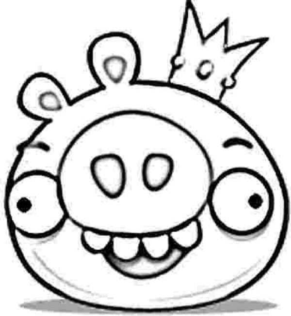 king pig coloring page angry birds archivos coloring pages coloring king page pig