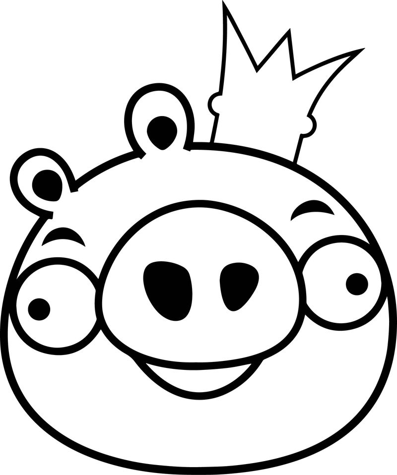 king pig coloring page angry birds coloring pages king pig free printable pig page king coloring