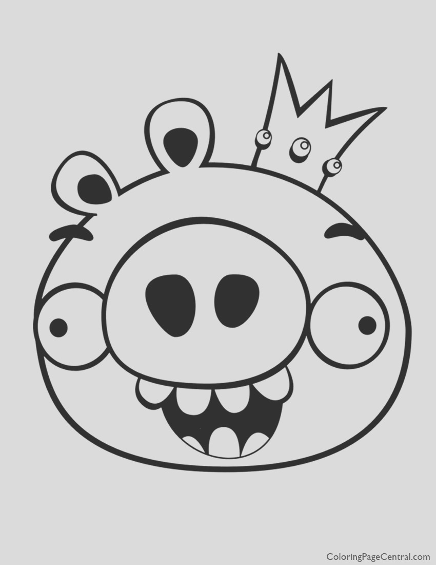 king pig coloring page angry birds king pig coloring pages coloring kids page king pig coloring