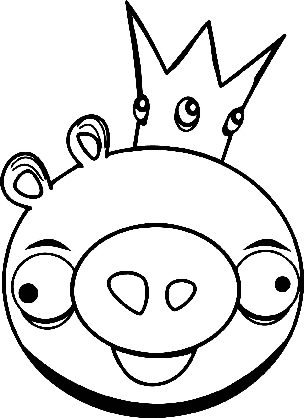 king pig coloring page king pig in angry bird coloring page kids play color coloring king page pig