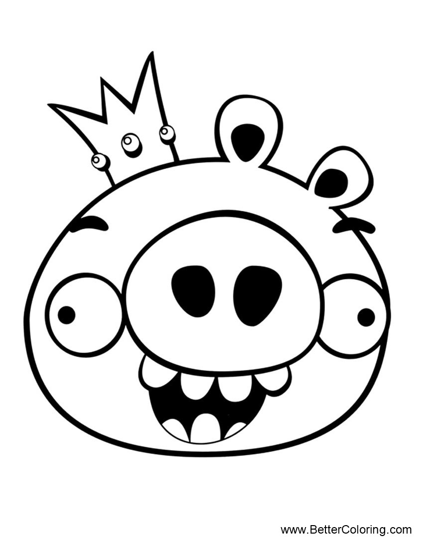 king pig coloring page pig king angry birds bird coloring pages coloring pages coloring pig king page