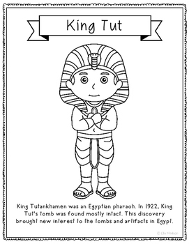 king tut coloring page king tut coloring page craft or poster with mini biography page coloring king tut