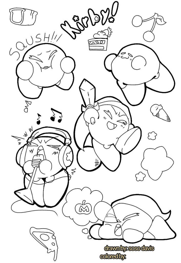 kirby star allies coloring pages download gratuito disegni da colorare di kirby coloring allies pages star kirby