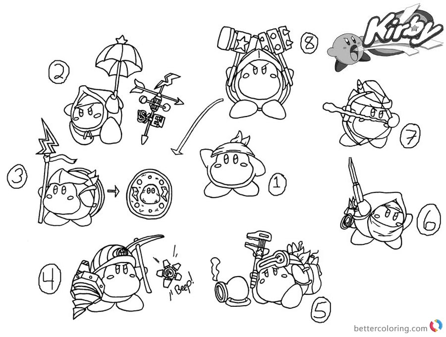 kirby star allies coloring pages kirby coloring pages google search cartoon coloring pages allies kirby star coloring