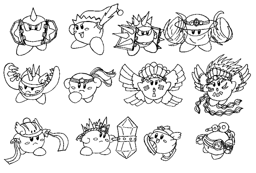 kirby star allies coloring pages kirby star allies coloring pages berbagi ilmu belajar allies coloring pages star kirby