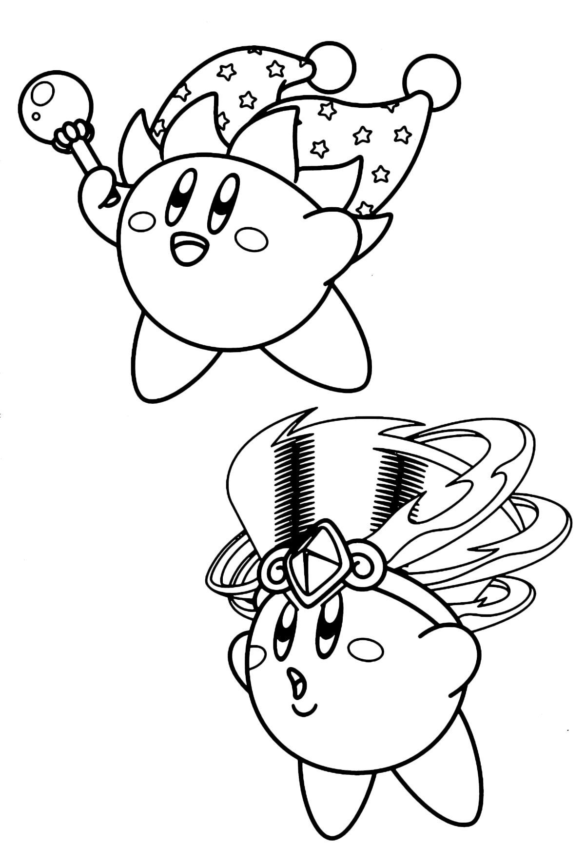 kirby star allies coloring pages kirby with headdress coloring page coloring pages kirby allies coloring star pages kirby