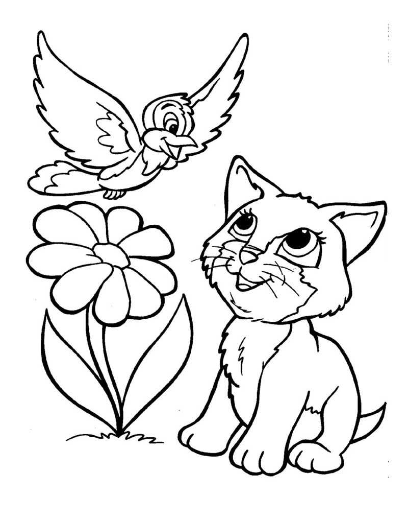 kitten coloring pictures printable coloring pages cute cats at getcoloringscom free coloring pictures printable kitten