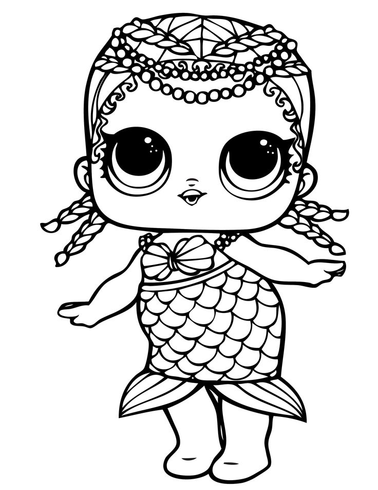 l.o.l coloring pages waves lol doll coloring page Раскраски Рисунки Детские l.o.l coloring pages