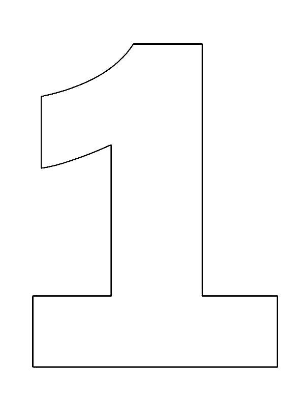 large number coloring pages number one coloring page free printable numbers large pages number coloring