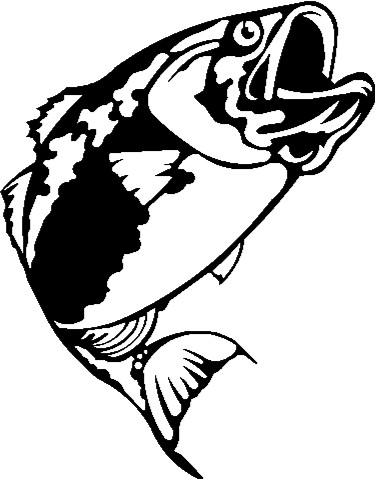 largemouth bass outline bass drawing clipart best bass outline largemouth